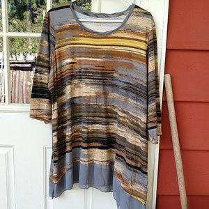 LOGO Watercolor stripe top